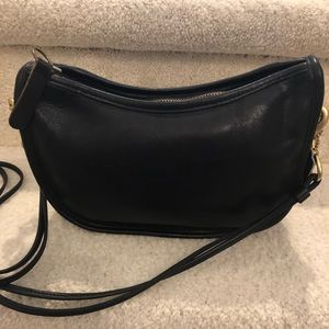 Coach Vintage 1980's Small Black leather crossbody